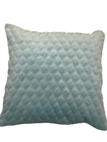Quilted cushion light green