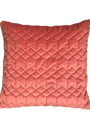 Quited cushion rose